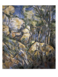 Rocks Near the Caves Below the Chateau Noir Giclee Print by Paul Cezanne