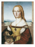 Woman with an Unicorn Prints by  Raphael