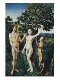 Diptych: the Fall of Man and the Lamentation Posters by Hugo van der Goes