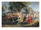 A Peasant Dance Poster by Peter Paul Rubens