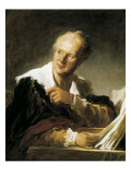 Denis Diderot Kunstdrucke von Jean-Honoré Fragonard