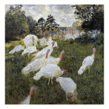 The Turkeys at the Chateau De Rottembourg, Montgeron Giclee Print by Claude Monet