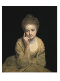 Studio Portrait of a Young Woman Premium Giclee Print by Sir Joshua Reynolds