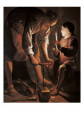 Saint Joseph the Carpenter Poster autor Georges de La Tour
