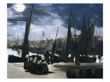 Moonlight over the Port of Boulogne Premium Giclee Print by Édouard Manet