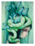 The Purple Tear Girl Premium Giclee Print by Camilla D'Errico