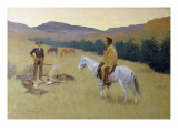 The Conversation, or Dubious Company Prints by Frederic Sackrider Remington