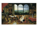 Hearing Print by Jan Brueghel the Elder