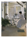 Interior in the Open Air Giclee Print by Ramon Casas Carbo