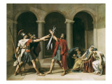 The Oath of the Horatii Plakater af Jacques-Louis David