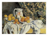 Still Life with Drapery Art by Paul Cézanne