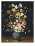 Bouquet in a Blue Vase Poster by Jan Brueghel the Elder