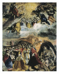 The Dream of Philip II or the Triumph of the Holy League Prints by  El Greco