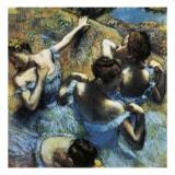Danseuses bleues Reproduction procédé giclée par Edgar Degas