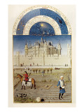 The Richly Decorated Hours of the Duke of Berry: Calendar: October Premium Giclee Print by Jean Limbourg