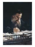 Portrait of leon tolstoy gicléedruk van nikolai nikolajevitch gay