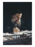 Portrait of Leon Tolstoy Print by Nikolai Nikolajevitch Gay