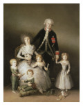 The Duke of Osuna and His Family Plakater av Francisco de Goya