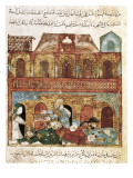 """The Maqamat"" (The Assemblies of Al-Hariri), Characteristic Genre of the Medieval Arabic Literature Posters by Yahya ibn Mahmud Al-Wasiti"