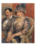 Monsieur and Madame Bernheim De Villers Print by Pierre-Auguste Renoir