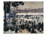 Skaters on the Bois De Boulogne Giclee Print by Pierre-Auguste Renoir