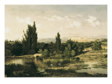Countryside with a River, Manzanares Art by Carlos de Haes