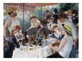 Venelounaalla Ensiluokkainen giclee-vedos tekijänä Pierre-Auguste Renoir