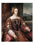 Portrait of the Empress Isabella of Portugal Gicle-tryk af Titian ( Tizano Vecelli)
