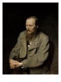 Portrait of Fyodor Dostoyevsky Giclee Print by Vasili Grigorevich Perov