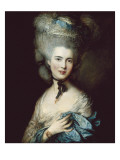 A Woman in Blue (Portrait of the Duchess of Beaufort) Reproduction proc&#233;d&#233; gicl&#233;e par Thomas Gainsborough