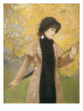 The Woman with the Ulster Print by Giuseppe De Nittis