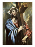 Christ Clasping the Cross Poster af  El Greco