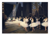 Backstage at the Opera Premium Giclee Print by Jean Béraud