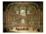 A Dance in a Baroque Rococo Palace Giclee Print by Francesco Battaglioli