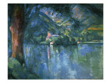 Lake Annecy Gicl&#233;e-Druck von Paul Cezanne