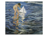 The Little Sloop Giclee Print by Joaquin Sorolla y Bastida