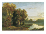 Landscape on the Banks of a River Prints by Luis Rigalt Y Farriols