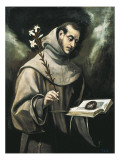Saint Anthony of Padua Prints by  El Greco