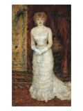 Portrait of the Actress Jeanne Samary Giclee Print by Pierre-Auguste Renoir