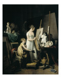 A Painter's Studio Print by Louis Leopold Boilly