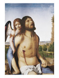 The Dead Christ Supported by an Angel Giclée-tryk af Antonello da Messina