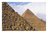 Pyramids of Menkaure, Khafre and Khufu Prints