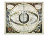 Representation of the Universe as Tycho Brahe Giclee Print by Andreas Cellarius