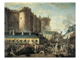The Storming of the Bastille Reproduction procédé giclée