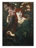 La Ghirlandata Gicléedruk van Dante Gabriel Rossetti