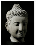 Colossal Buddha Head Poster