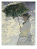 Woman with a Parasol - Madame Monet and Her Son Giclee Print by Claude Monet
