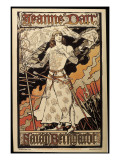 Poster Announcing the Performance of Joan of Arc by Sarah Bernhardt in the Renaissance Theater Giclee Print