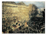 Carnival on the Boulevard Des Capucines Giclee Print by Claude Monet