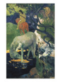 The White Horse Art by Paul Gauguin